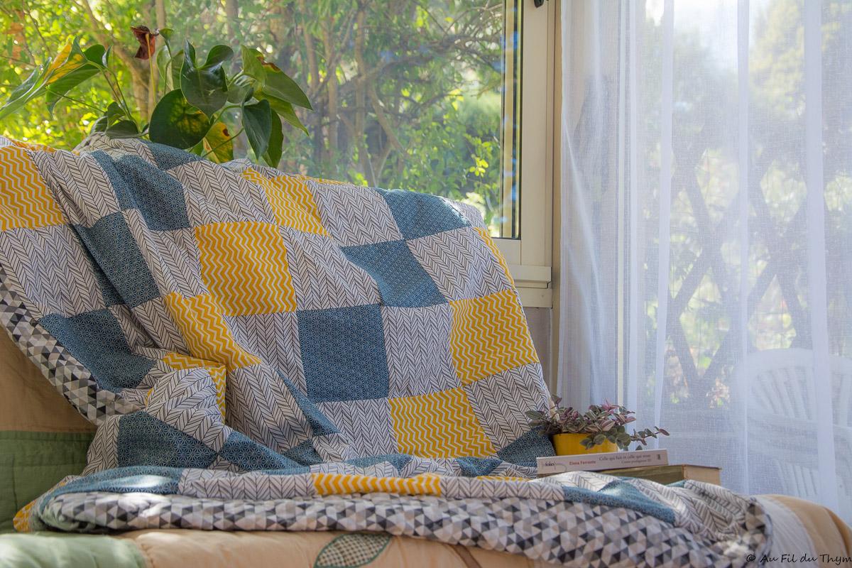 DIY – Un plaid patchwork géométrique