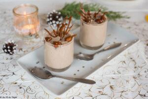 creme vegetale marron tofu soyeux // dessert noel végétalien // -au fil du thym