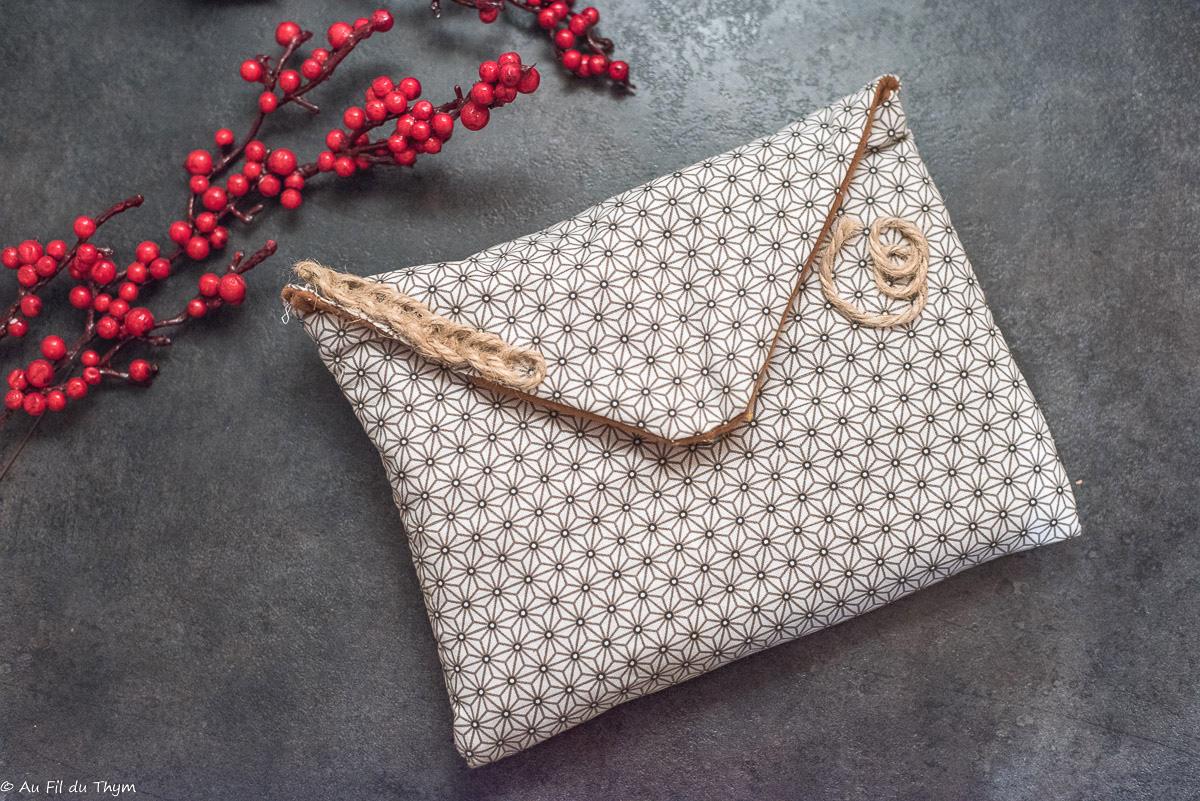 – DIY – Pochette en tissu (ultra facile)