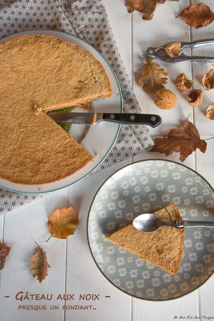 gâteau fondant noix - Un délice d'automne à partager ou pas