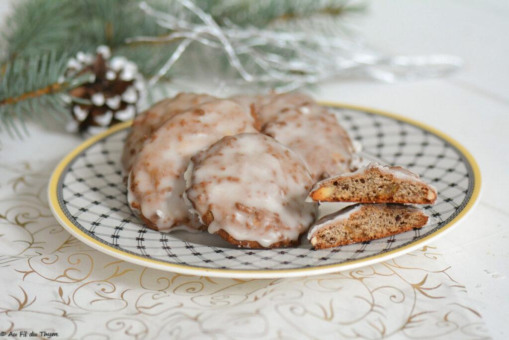 Lebkuchen (petits pains d'épices plats) // Biscuit Avent // Au Fil du Thym