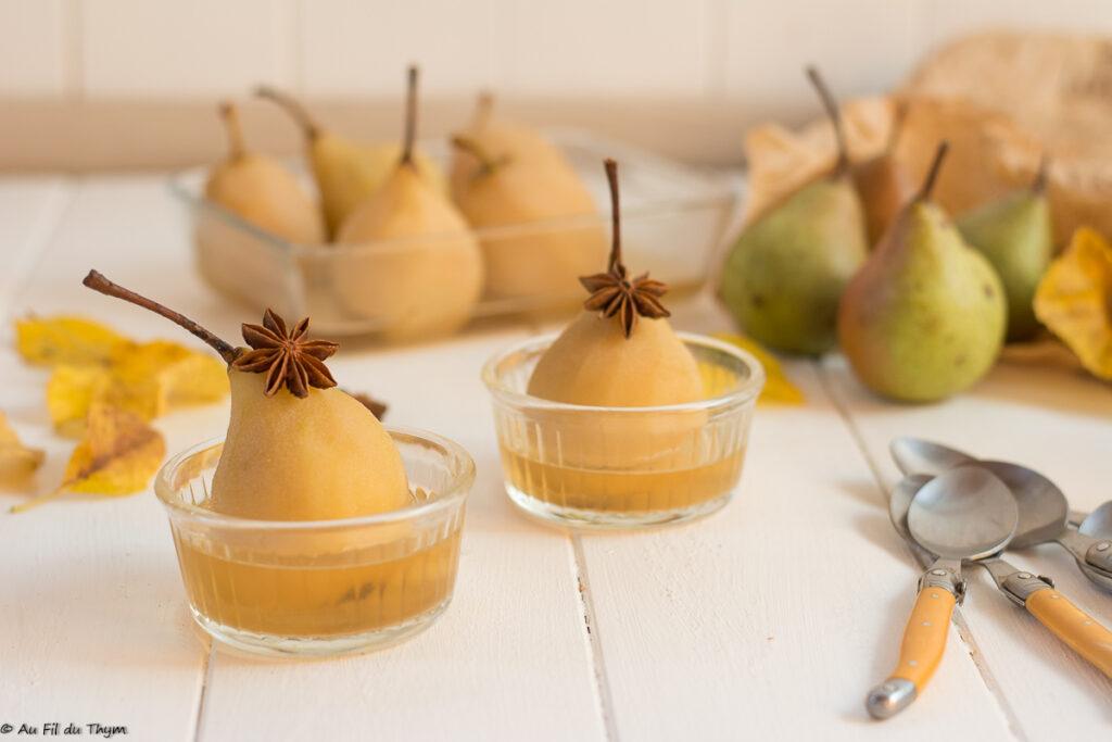 Poires chapelan au sirop de cardamome // Dessert d'automne facile et délicieux, pour se régaler sainement