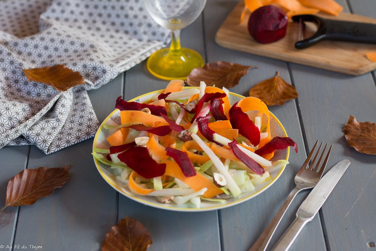 Salade de chou rave & chou blanc