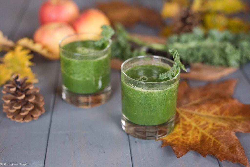 Smoothie Kale Pomme Gingembre (chou Kale) - Une délicieuse recette saine pour faire le plein de vitamines