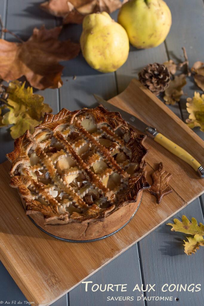 tourte aux coings et un peu de cannelle - Dessert coing automne - Au Fil du Thym