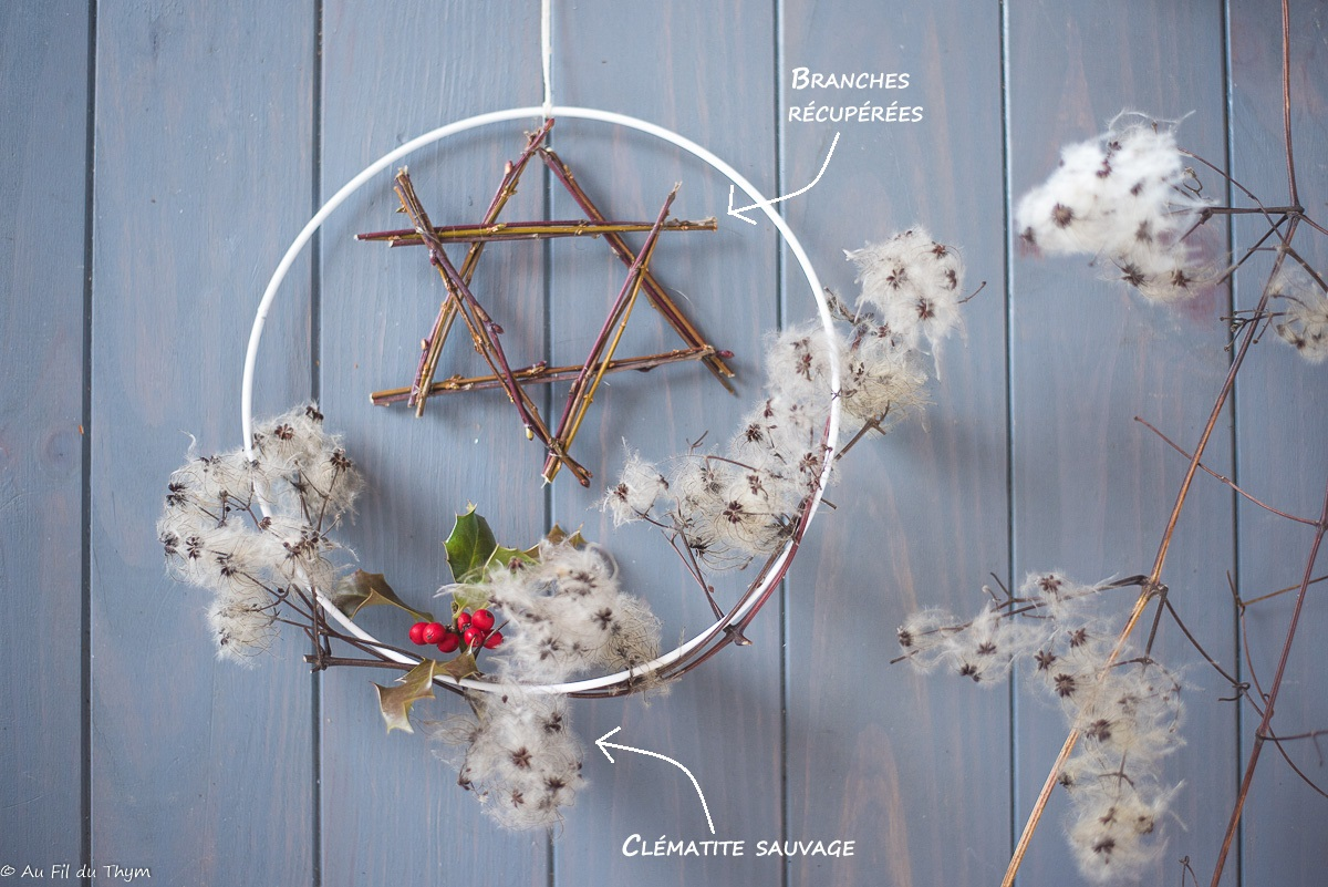 Couronne Noël Nature Minimaliste & Campagne