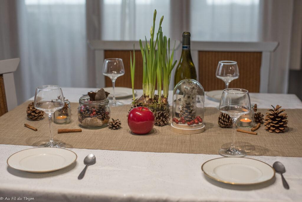 Décoration table fête nature // Au Fil du Thym