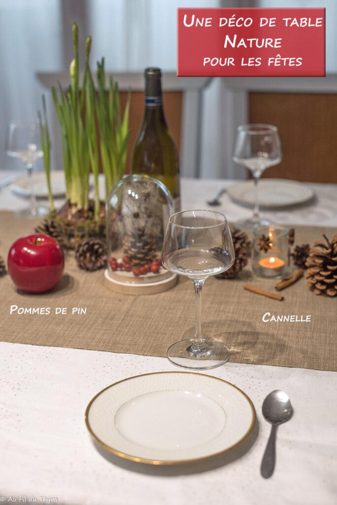 Décoration table fête nature // Idée déco table végétale // Au Fil du Thym