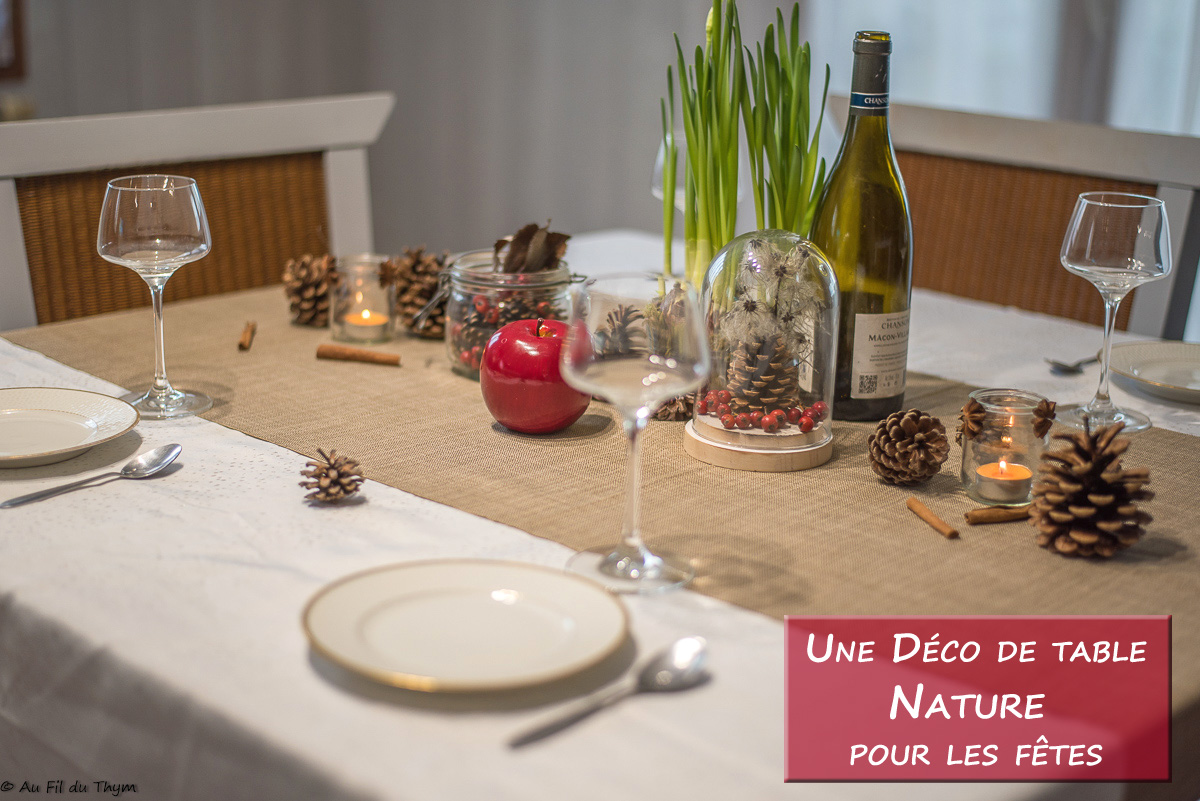 Une table de fête simple et naturelle