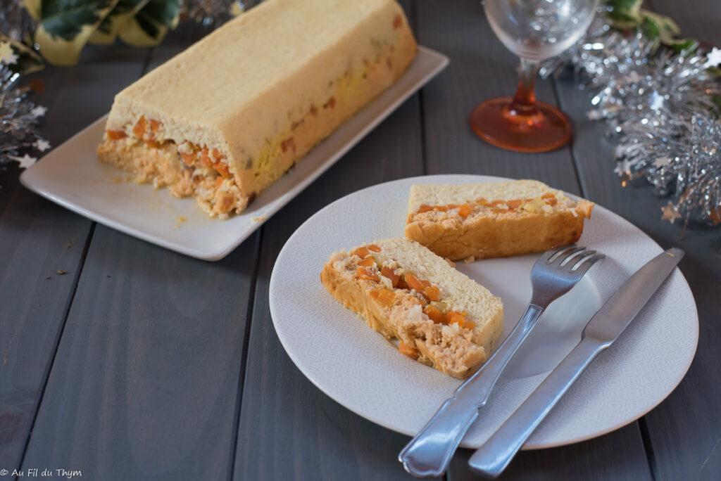 Terrine poisson orange (saumon et cabillaud) - Idée entrée de fêtes - Au Fil du Thym