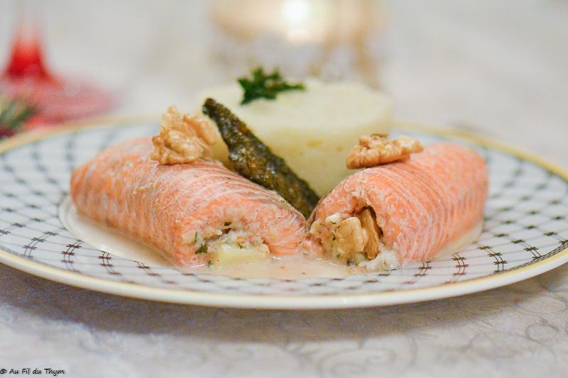 Ballotine de truite aux noix - Idée repas festif ou repas de famille - Au Fil du Thym