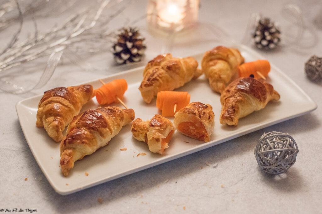 mini croissant gouda carotte // Idée apéritif ludique et facile - Au Fil du Thym