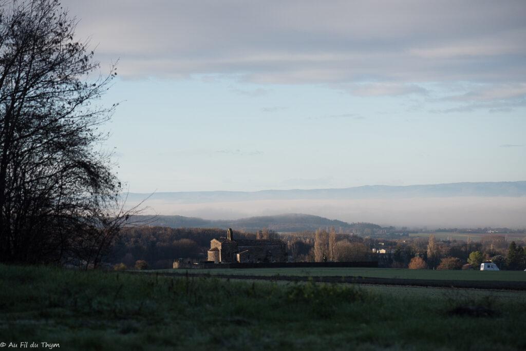 Photographies amateur d'une randonnée vercors décembre dans les contreforts du vercors, côté plaine de Valence