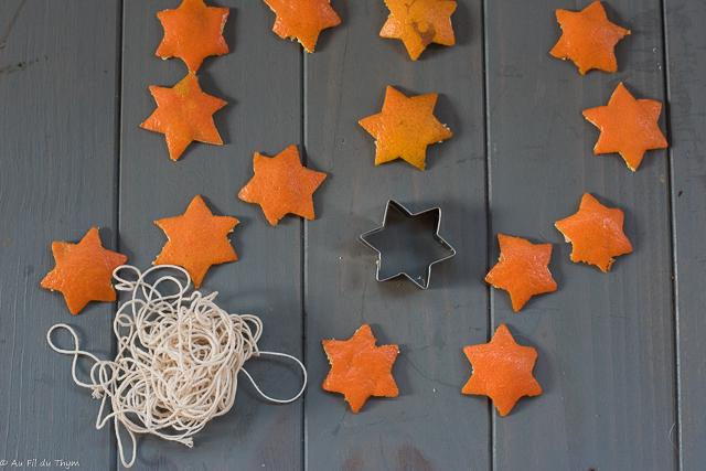 DIY - étoiles de clémentine