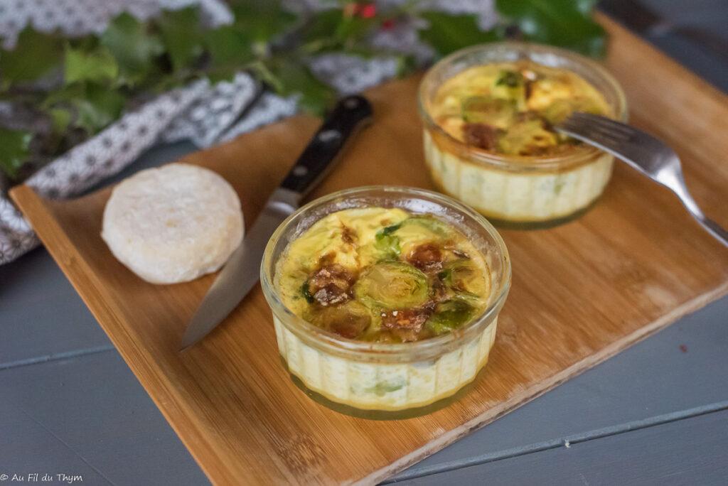 Flans chou bruxelles chèvres - Idée pratique pour un repas d'hiver