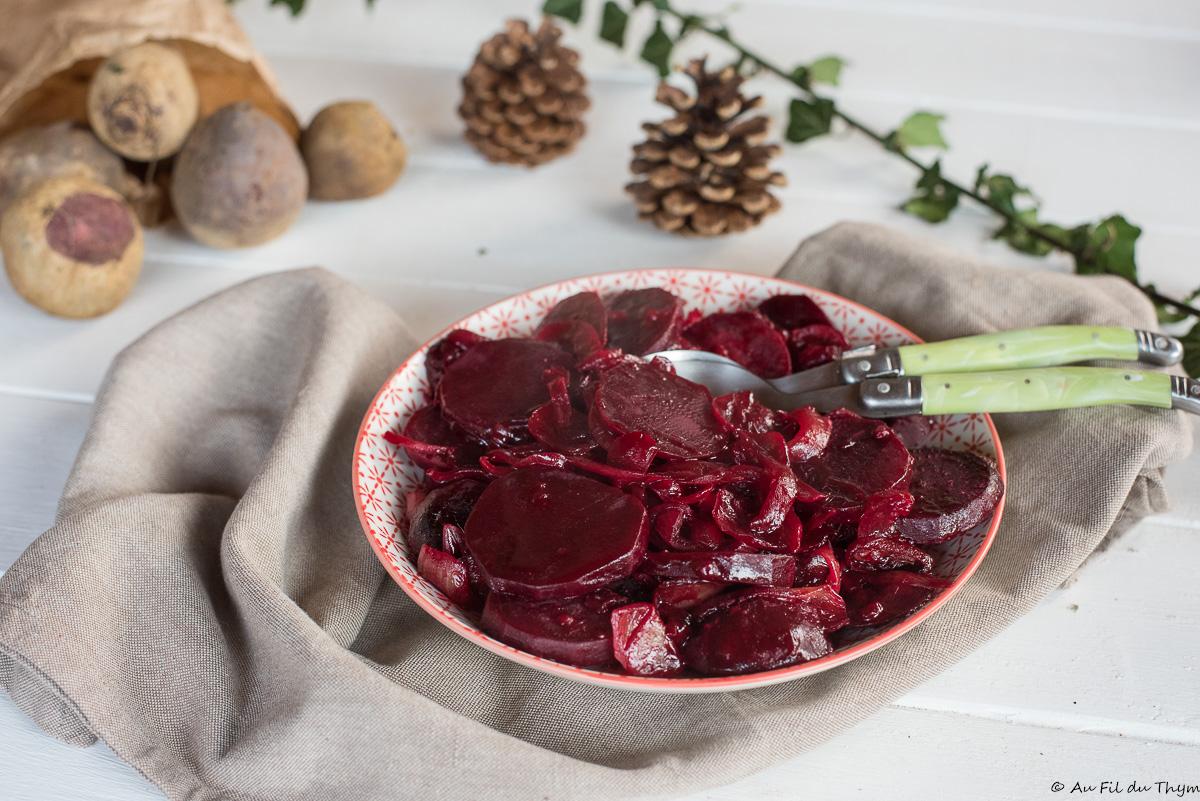 Poêlée de betteraves caramélisées aux oignons (betteraves poitevines)