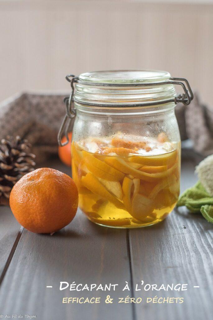 Décapant orange (facile, écologique, zéro déchet) - Ménage écologique- Au Fil du Thym