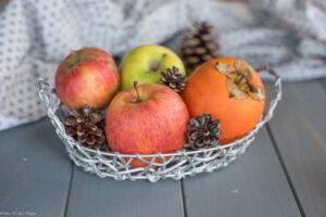 Panier de fruits d'hiver : Pomme & kaki