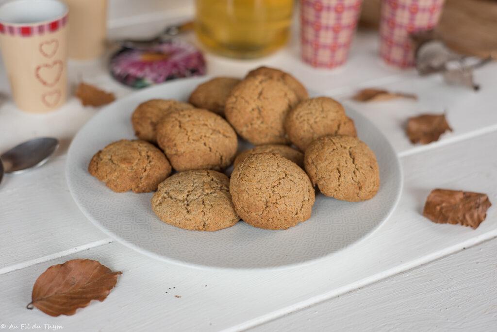 Biscuits moelleux miel - recette biscuit facile - Au Fil du Thym