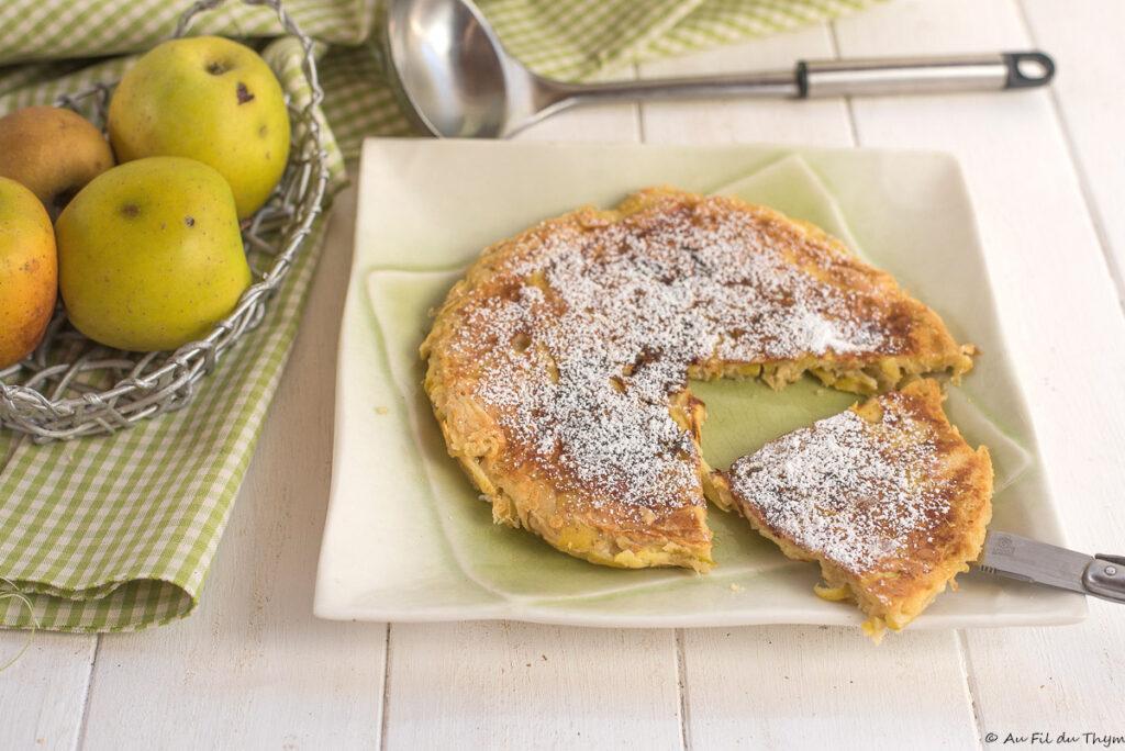 Bouligou du Limousin - Crêpe aux pommes épaisse et ultra facile - Au Fil du Thym