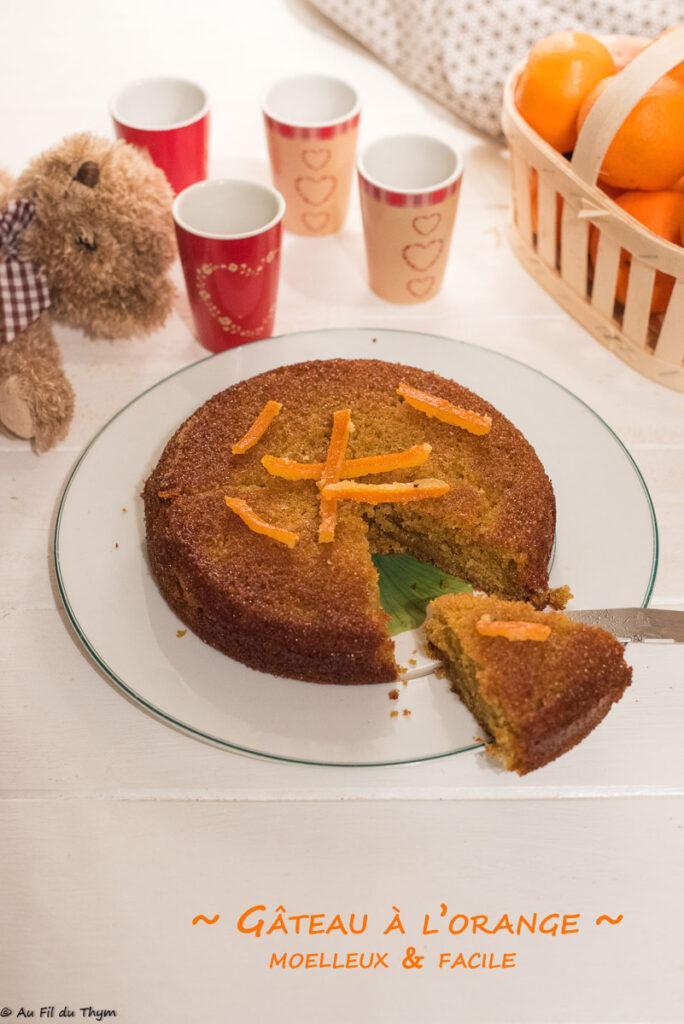 Gâteau à l'orange très moelleux - Au Fil du Thym
