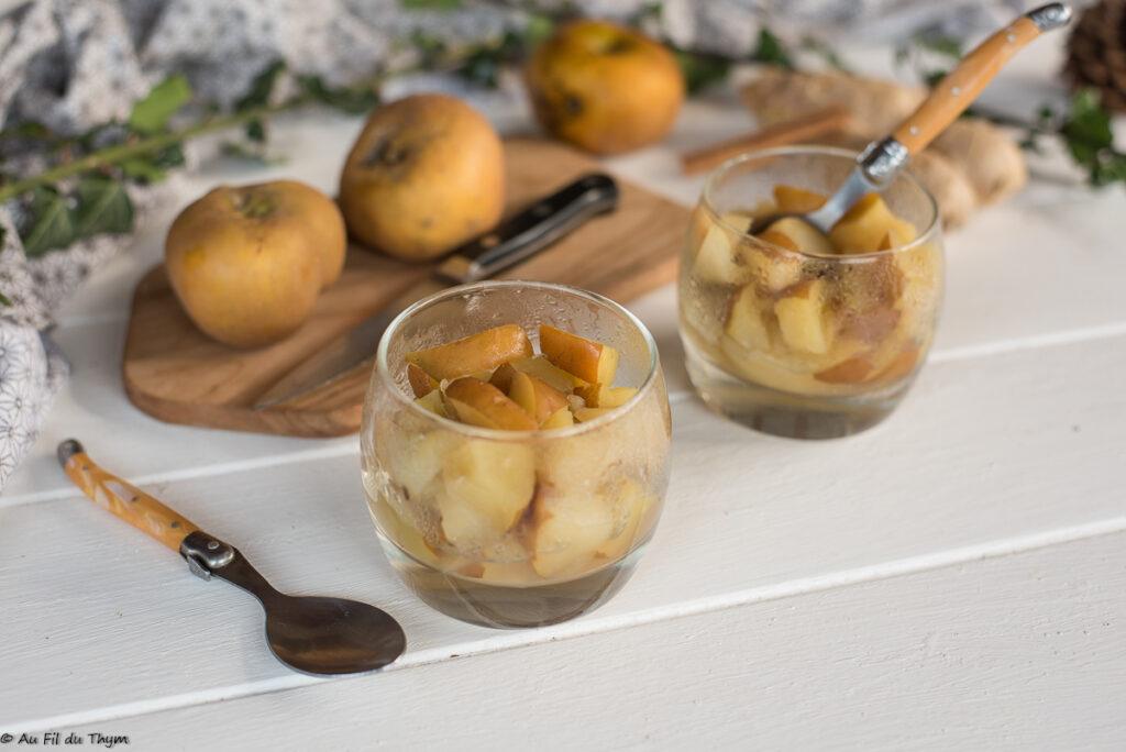 Pommes moches gingembre - Idée dessert facile et rapide - Au fil du thym