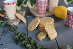 Sablés bergamote huile d'olive - Biscuit vegan citron - au fil du thym -