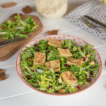 Salade chou chinois panisse grillee - Recette végétarienne facile - Au Fil du Thym