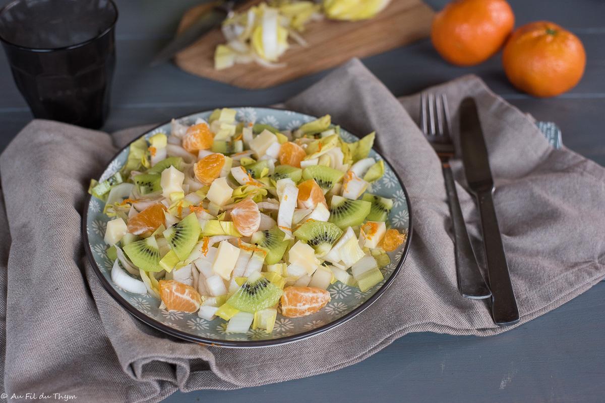 Salade endives – kiwi – gruyère (et plein de vitamines)
