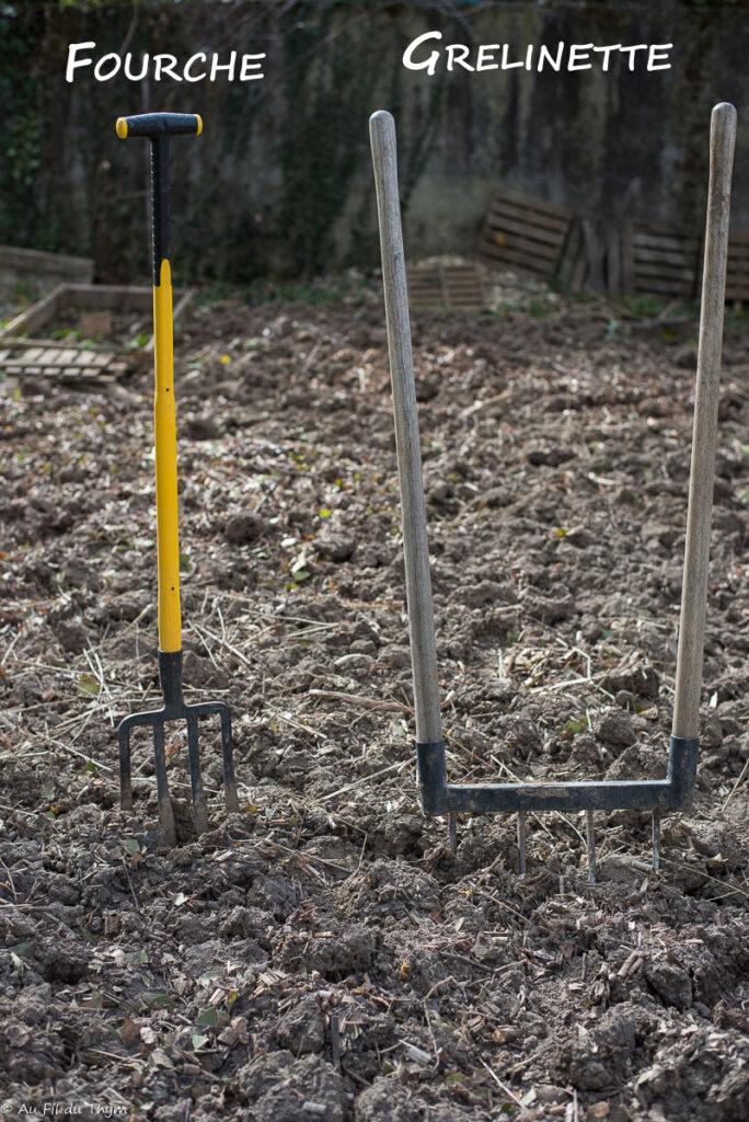 Fourche et Grelinette - Outils pratiques pour le jardin