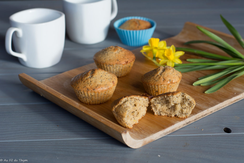 Menu mars 2021 : Muffins citron pavot - Idée goûter gourmand - Au Fil du Thym