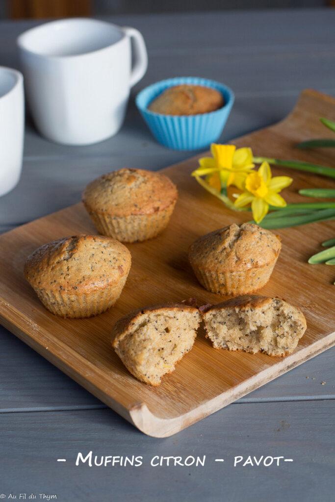 Muffins citron pavot - Idée goûter gourmand - Au Fil du Thym