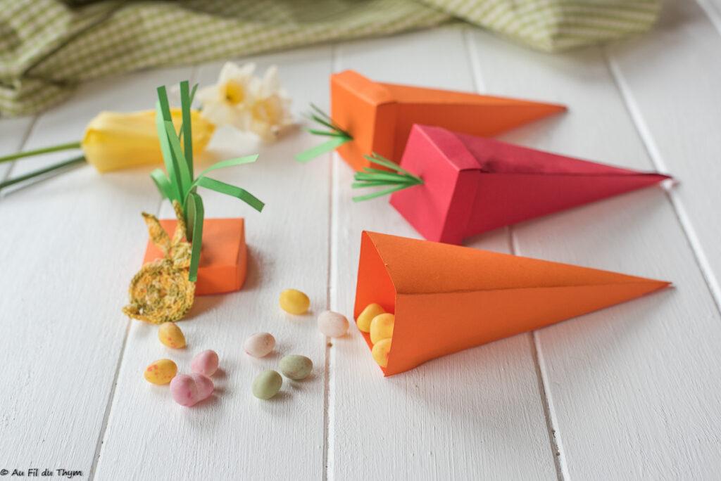 carottes en papier pour Pâques - DIY facile