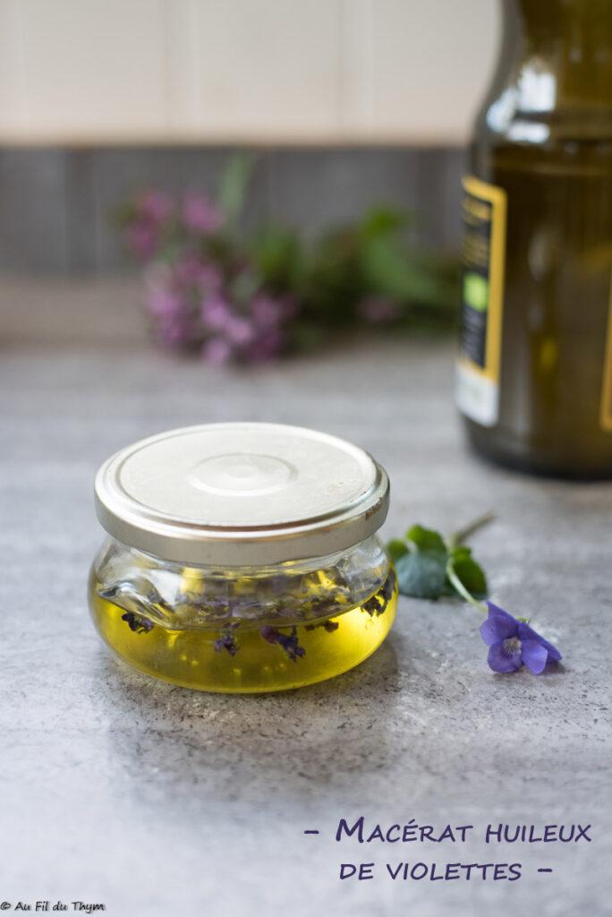 Macérat huileux de violettes (DIY)