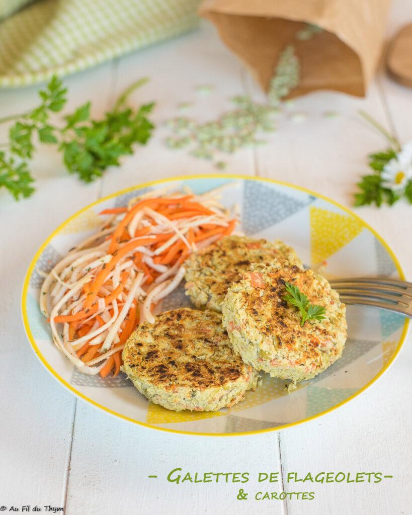 Galettes flageolets & carottes faciles - Au Fil du Thym