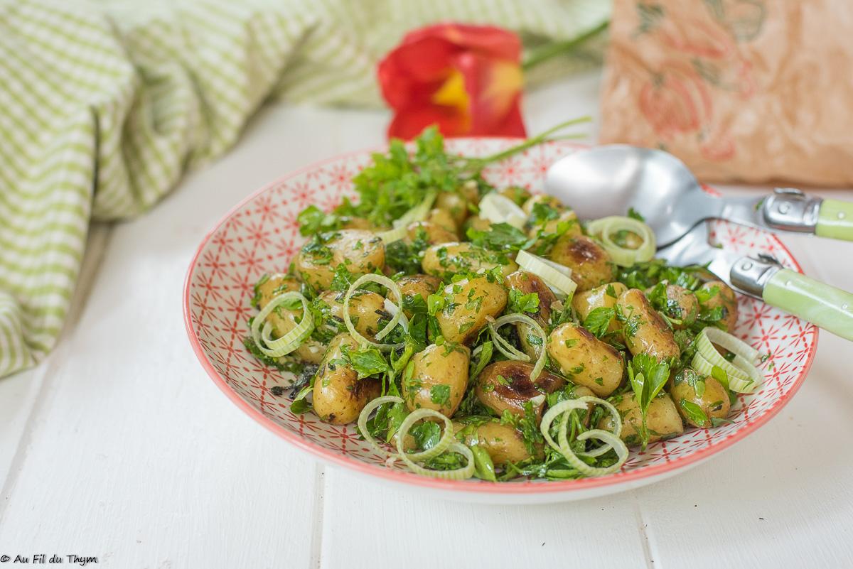 Salade de pommes de terre grenaille aux herbes