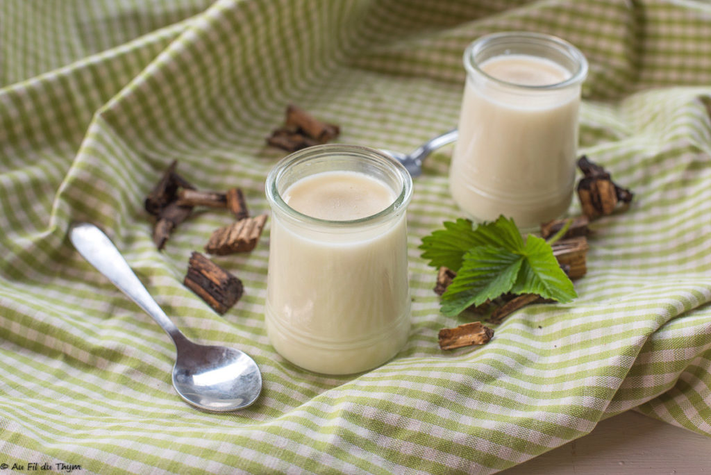 Crèmes dessert à l'apérule odorante / recette aspérule odorante