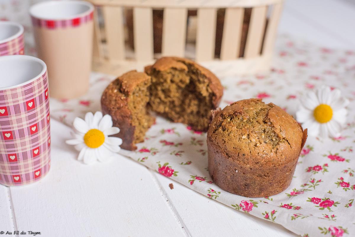 Muffins de Thomas (à la farine de lentilles, sans gluten)