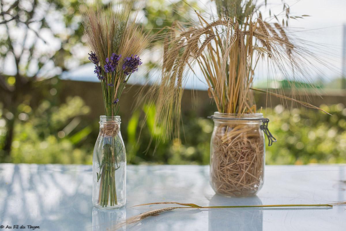 Deux idées de bouquets de blés pour l'été