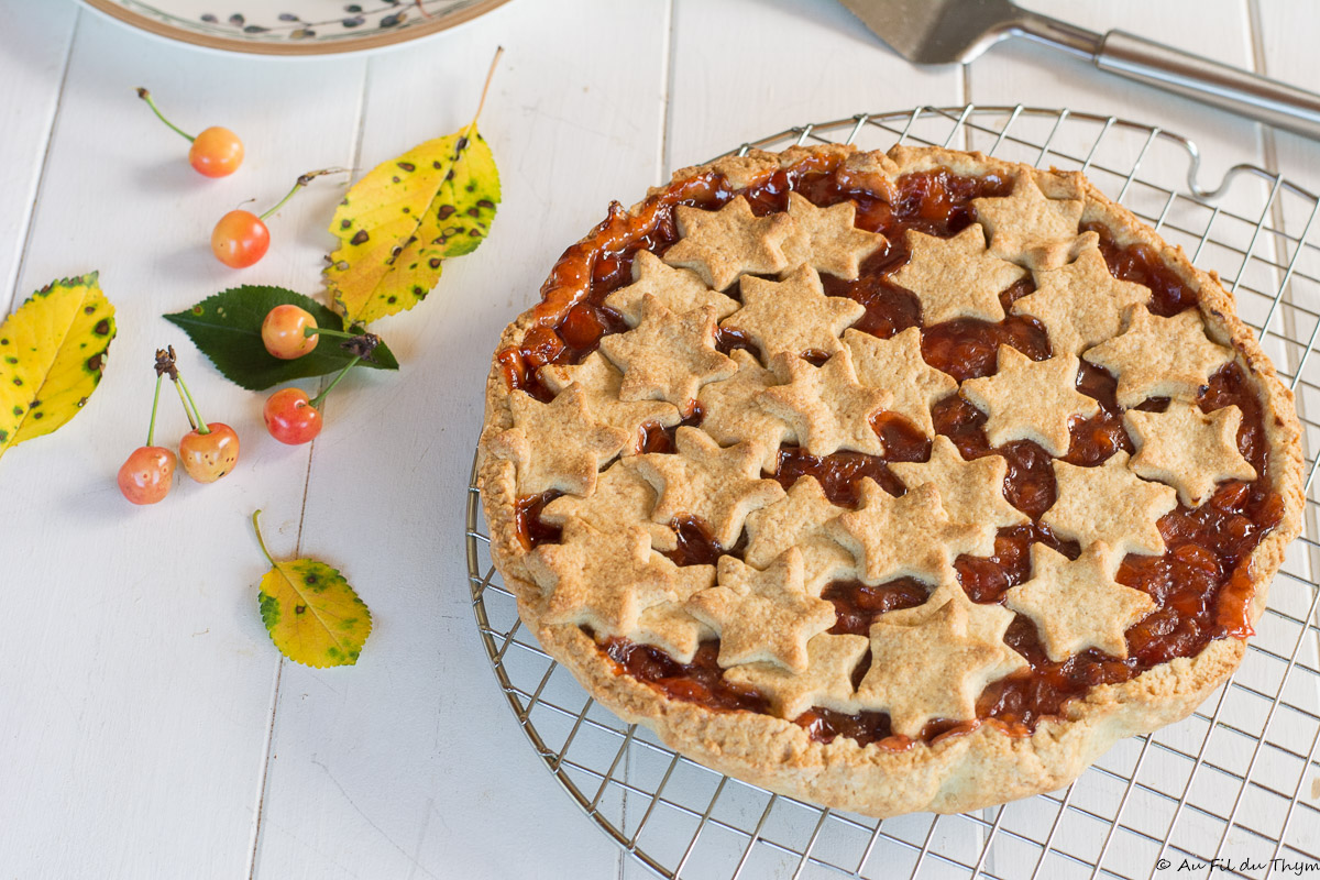 Tarte italienne aux cerises griottes (Crostata di Visciole)