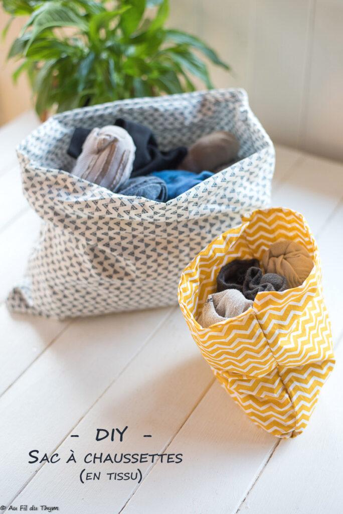 DIY : Sac à chaussettes en tissu