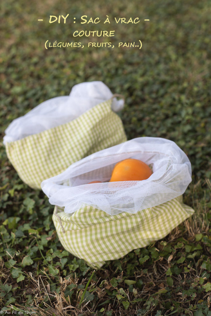 DIY sac à vrac en tissu facile
