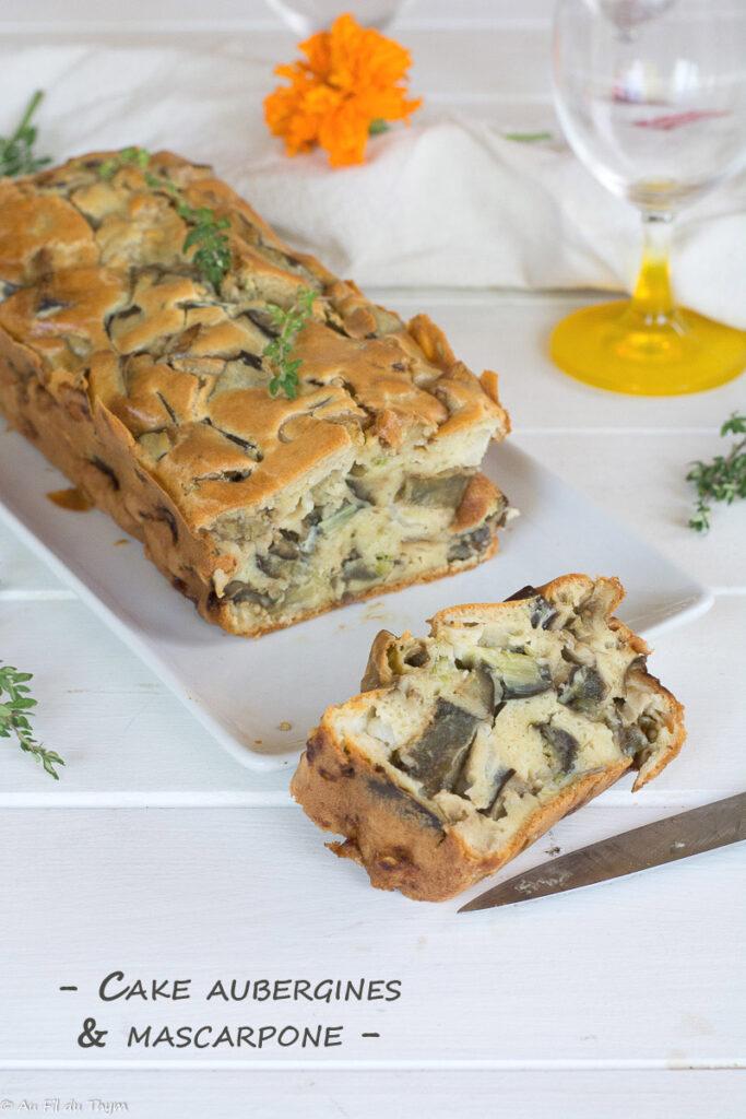 Cake aubergine mascarpone fondant - Au Fil du Thym