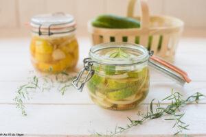 Conserves concombre à l'aigre douce