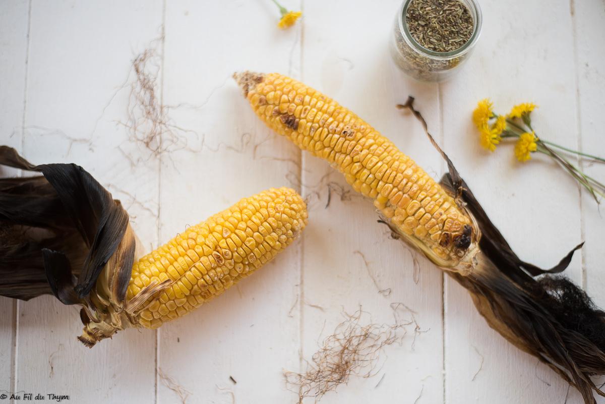 Épis de maïs grillés au four