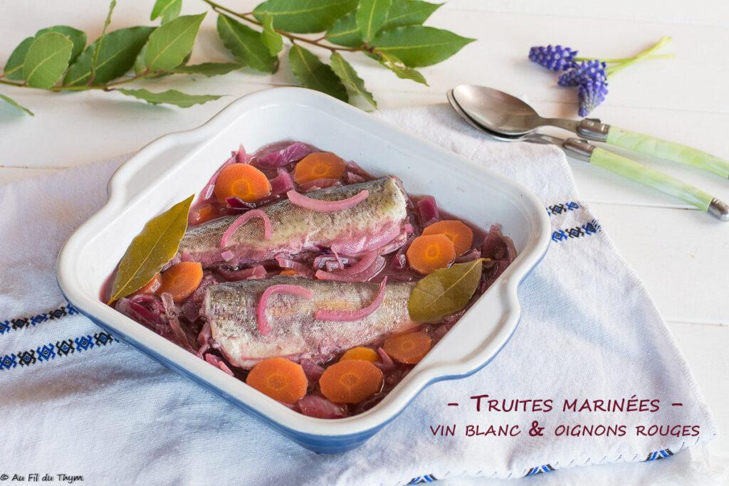 truite marinee vin blanc oignons rouges
