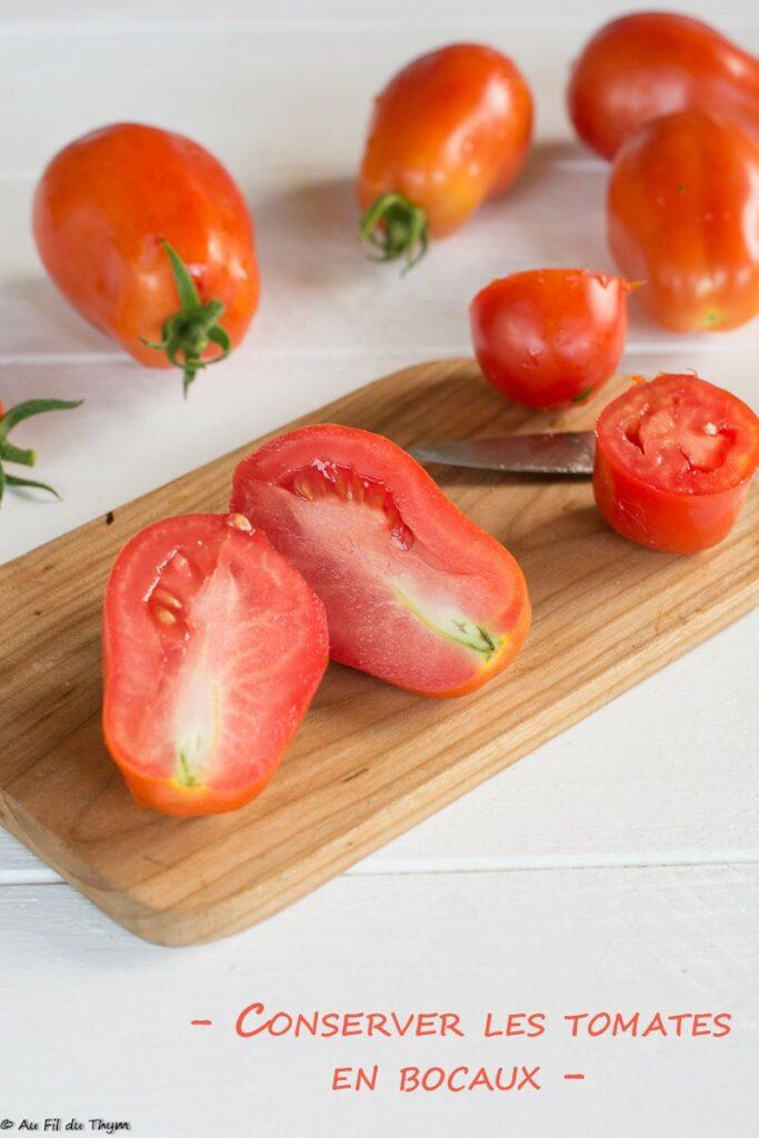 Astuces : conserves tomates / bocaux de tomate