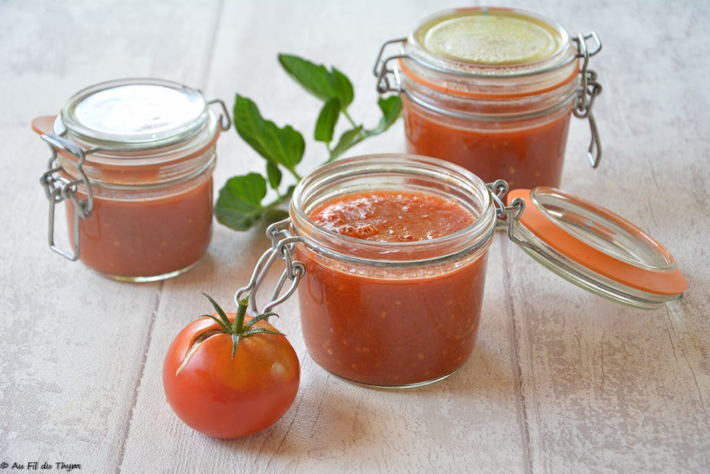conserves tomates en sauce / coulis