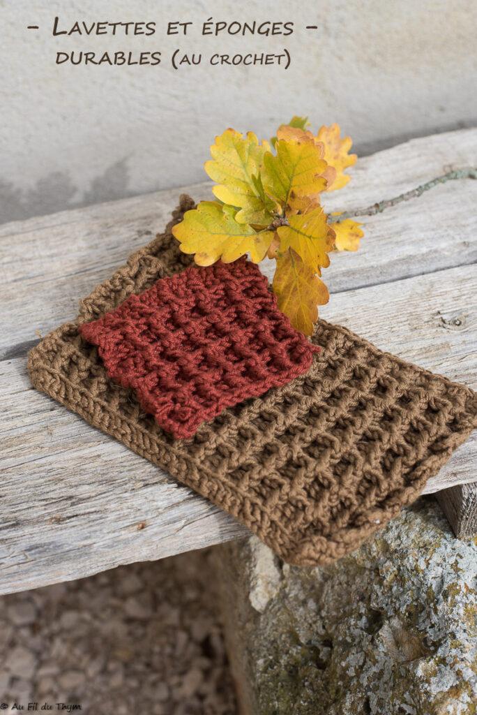 Lavette durable et éponge crochet