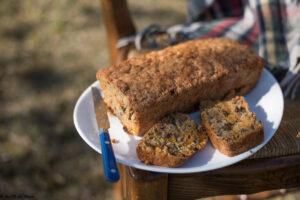 Butternut cake très gourmand (noisette, raisins secs, graines de courge)